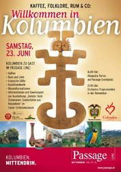 Catering - promo-Promo poster of the Passage LINZ Austria - Action under the auspices of the Colombian Embassy